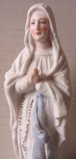 Antica statuina Madonna in biscuit - Arte sacra - N.D.Lourdes