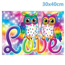 UK Owl 5D Diamond Painting Embroidery Cross Crafts Stitch Kit Home Decor Craft