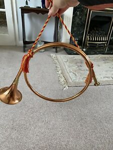 Ornamental Copper And Brass Circular Hunting Horn good condition