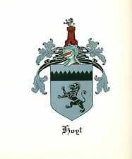 *Great Coat of Arms Hoyt Family Crest genealogy, would look great framed!