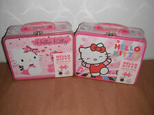 Lot of 2 Hello Kitty 100 Piece Puzzle in Lunch Box Tin New