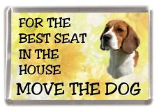 "Beagle Dog Fridge Magnet  ""For the Best Seat in the House......."" by Starprint"