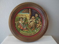 1972 Wood Carved Anri Italy Father'S Day Plate Schmid Limited Edition #1758 Mib