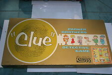 "VINTAGE 1963 ""CLUE"" PARKER BROTHERS DETECTIVE BOARD GAME"