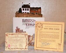 Lilliput Lane Yew Tree Farm - Very Rare Home of David Tate Nib Coa and Deeds