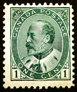 Canada #89 1c Green 1903 King Edward VII VF Mint Faintly Hinged