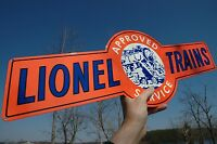 "OLD STYLE 30"" LIONEL MODEL RAILROAD TRAIN RR TOY HOBBY THICK STEEL SIGN USA MADE"