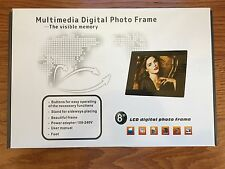 "NEW BULOVA ACCUTRON MULTIMEDIA DIGITAL PHOTO FRAME 8"" 2GB MEMORY CARD REMOTE"