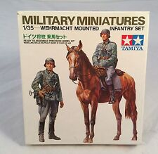 1975 TAMIYA Military Miniatures Model WEHRMACHT MOUNTED INFANTRY Kit #35053