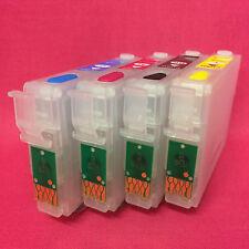 Set Refillable Cartridges For Epson WORKFORCE WF 2010W 2010 Auto Reset Chips ARC