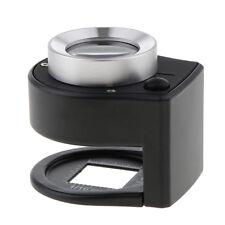 2 Pezzi Lente di Ingrandimento Scivolo Tasca Magnificatore 30X 60X 90X Occhio Lente di Ingrandimento con LED e Luce UV per Gioielli
