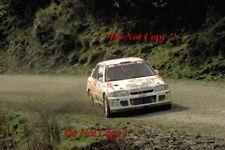 Armin Schwarz Mitsubishi Lancer Evo II Nueva Zelanda Rally 1994 fotografía 2