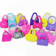10 Pcs Doll Plastic Shoulder Bags Handbag Toy Mix Style Accessories Barbie LJ