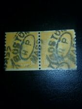 1924 US Stamps Scott# 603, 10c, Monroe, Coil Pair Used Great Shape - #1441
