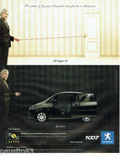 PUBLICITE ADVERTISING 046  2006  Peugeot  la 1007  portes coulissantes Sésame
