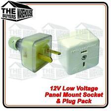 12 volt PowerSocket Extention T Plug Caravan Boat Marine 4WD Low voltage 2 pin,