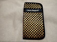 Beautiful 1980's Laura Biagiotti Eyeglasses Case In Gold And Black!