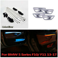 Upgrade 2 Colors Car Interior Led Ambient Door Atmosphere Light For BMW F10 F11&
