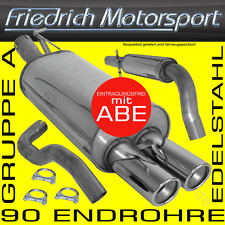FRIEDRICH MOTORSPORT V2A ANLAGE AUSPUFF VW Golf 1 + Cabrio 1.1l 1.3l 1.5l+D 1.6l