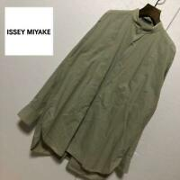 ISSEY MIYAKE Band Collar Over sized shirt Size M Good condition From JAPAN