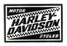 Enamel Fill & Silver Plating P334882 Harley-Davidson 2D Die Cast Ignition Pin w/