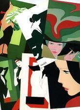 AMLETO DALLA COSTA - Gorgeous Group of 8 BRILLIANT ART DECO Artist Postcards