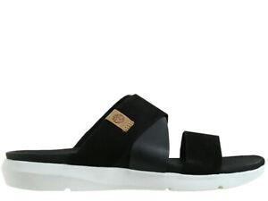 Damen Sandalen Timberland Casual Wilesport Slide Sandal Black Nubuck A2AH7