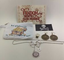 Fandom of the Month Club FOTM - Pirates Necklace Magnet Ring Earrings Pouch