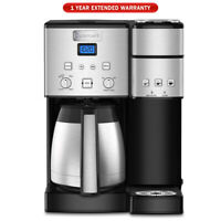 Cuisinart 10-Cup Thermal Single-Serve Brewer Coffeemaker Silver + Warranty