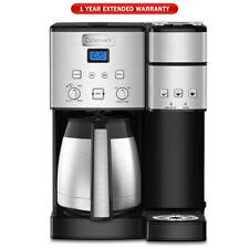 Cuisinart 10-Cup Thermal Single-Serve Brewer Coffeemaker Silver + Warranty