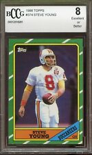1986 Topps Steve Young Rookie Card #374 BCCG 8 49ERS