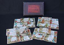 Rare ancien jeu cube Etudes Géographiques France Département Paris fin XIX
