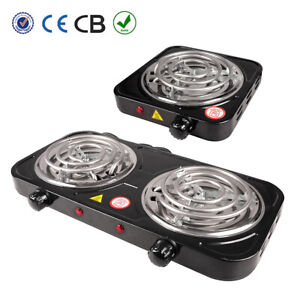 Portable Electric Double / Single Burner Hot Plate Stove Travel Cook Countertop
