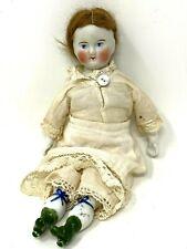 Poupée Ancienne de Collection & Biscuit & Porcelaine & Jouet de Jeune Fille