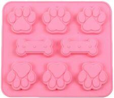 8 Paw Bone Silicone Base Chocolate Cookie Mould Baking Ice Cube Jelly Cat Dog