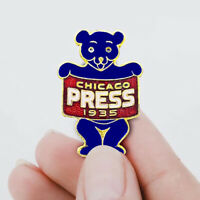 1935 Worlds Series Chicago Cubs MLB Enamel Press Promotional Pin Badge Button
