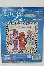 Cross Stitch Kit Not Older Better Senior Red Hat Friends Janlynn 056-0190 New OB