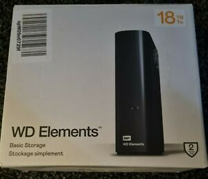 WD Elements 18TB External Hard Drive Used