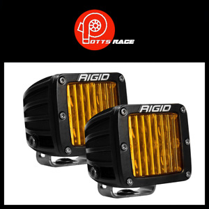 Rigid Industries Pair of D-Series 504814 Pro SAE/DOT Selective Amber Fog Lights