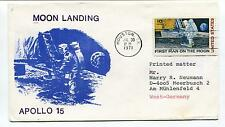 1971 Moon Landing Apollo 15 Houston Texas West Germany Space Cover
