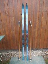 "New listing Ready To Use Cross Country 70"" Peltonen 180 Cm Skis + Nnn Binding + Waxless Base"