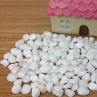 Mini White Pebble Stone Paving Fairy Garden Dollhouse Pot Bonsai Terrarium DIY