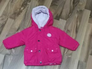 Baby Mädchen Winterjacke  Pink Gr 74 von Ergee Gefüttert