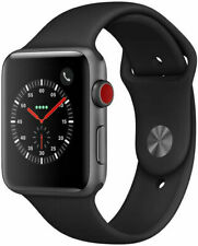 Apple Watch Series 3 GPS + Cellular 42mm Cassa di Alluminio Grigio Siderale, Cinturino Sport Nero, Smartwatch (MTH22QL/A)