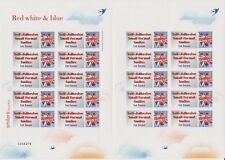 GB 2005 - Self Adhesive Small Format Smilers - Red White and Blue - TS28b