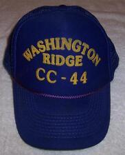 Washington Ridge CC-44 Trucker/ Baseball Hat Little Town of/ California