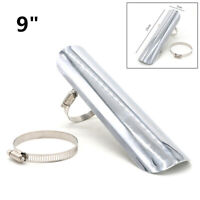 Silver Motorcycle Exhaust Muffler Pipe Heat Shield Anti-Hot Cover Decor Guard