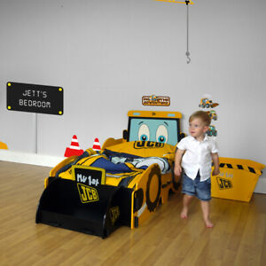 Children's Bedroom Furniture, JCB Digger Bed, Bedside Table, Storage Box or Desk
