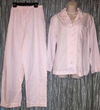 Cabernet Sleepwear Top and Pant Pajama Set Sz M Womens Pink white Striped