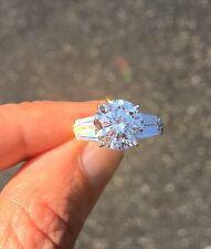 Quality Cz Imitation Moissanite Simulant 8 4 ct Double Baguette Ring Russian